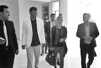 Dagmar Radin during her visit to Afghanistan